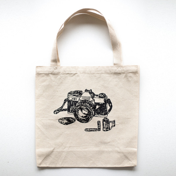 Film Camera Canvas Tote Bag