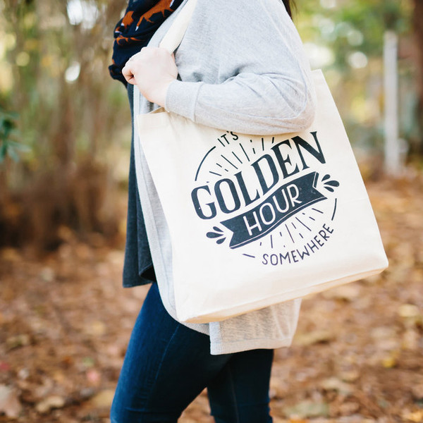 Golden Hour Canvas Tote Bag