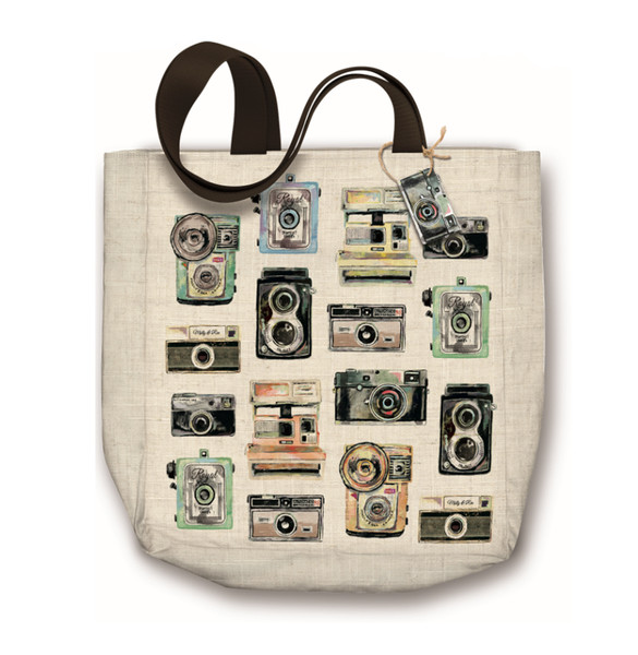 Vintage Cameras Canvas Tote Bag