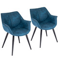 Wrangler Industrial Accent Chair in Blue by LumiSource - Set of 2