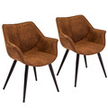 Wrangler Industrial Accent Chair in Rust by LumiSource - Set of 2