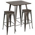 Oregon 3-Piece Industrial Set in Antique and Espresso by LumiSource