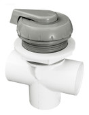 600-4347 Waterway Spa Diverter Valve ( Notched ) Gray 1""