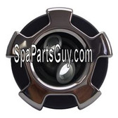 320-6727 Marquis Spa Crown Twin Roto Jet Complete Insert Graphite / Stainless 3 1/4""
