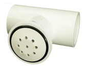 "Waterway Plastics Spa Air Control # 670-2320 Top-Flo 1"" TEE White"