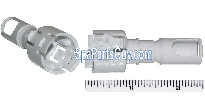 Waterway Cluster Storm spa jet SNAP-IN DIFFUSER part# 218-5140 white back part