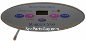 650-0635_650-0483 Marquis Spa Leisure Series Oval Topside Control Panel 4 Button w/Overlay 650-0483
