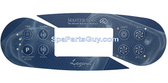 Master Spas MP700 Spa Topside Control Panel  Overlay Only X509009
