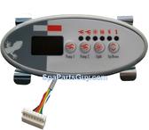 0202-005-003 Coast Spas Topside Control Panel 4 Button 2 Pump