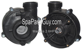 """630-6060 Marquis Spa Vico 2.6 HP Pump Wetend Only S/D 48"""" Frame"""