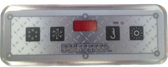 LB55084 Leisure Bay Spa Topside Control Panel 4 Button Lite Duplex w/ Overlay
