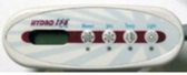 52628 Balboa Hydro Spa Topside Control Panel 4 Button M7 Mini Oval Includes Overlay Same as 52144