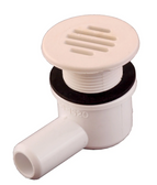 """640-0420 Waterway Spa Drain 2"""" Face Includes Body 640-1520 White 3/4"""" Barb"""