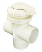 600-3040B Waterway Diverter Valve ( Scallop) White 2""