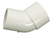 "4114040 1.5"" 45 Degree Elbow Street Ell x Slip Schedule 40 PVC Fitting"