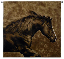Eastward Gallop by Robert Dawson | Woven Tapestry Wall Art Hanging | Graceful Running Wild Stallion Equestrian Artwork | 100% Cotton USA Size 53x51 Wall Tapestry