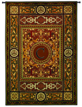 Fine Art Tapestries Monogram Medallion C Hand Finished European Style Jacquard Woven Wall Tapestry USA 75X53 Wall Tapestry