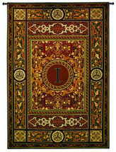Fine Art Tapestries Monogram Medallion I Hand Finished European Style Jacquard Woven Wall Tapestry USA 75X53 Wall Tapestry