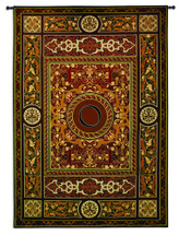 Fine Art Tapestries Monogram Medallion O Hand Finished European Style Jacquard Woven Wall Tapestry USA 75X53 Wall Tapestry