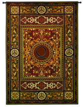 Fine Art Tapestries Monogram Medallion Q Hand Finished European Style Jacquard Woven Wall Tapestry USA 75X53 Wall Tapestry