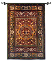 Chateau Medallion | Woven Tapestry Wall Art Hanging | Ornate Symmetric Mosaic Artwork | 100% Cotton USA Size 75x53 Wall Tapestry