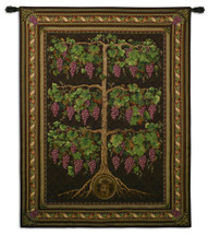 Dionysus Vine | Woven Tapestry Wall Art Hanging | Greek Wine God Rustic Vineyard Decor | 100% Cotton USA Size 69x53 Wall Tapestry