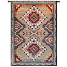 Brazos Tapestry | Woven Tapestry Wall Art Hanging | Rustic Native American Inspired Geometric Design | 100% Cotton USA Size 76x53 Wall Tapestry