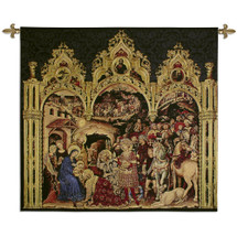 The Adoration of the Magi Gentile da Fabriano by Sandro Botticelli | Woven Tapestry Wall Art Hanging | Italian Renaissance Medici Giuliano and Lorenzo | 100% Cotton USA Size 53x46 Wall Tapestry