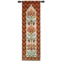 Ikat Maya By Schumacher - Woven Tapestry Wall Art Hanging - Abstract Art Bold Design Vivid Golds Oranges Natural Earth Toned Artwork - 100% Cotton - USA 87X26 Wall Tapestry