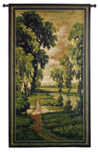 Tranquility   Woven Tapestry Wall Art Hanging   Nature Lush Forest Path   100% Cotton USA Size 93x53 Wall Tapestry