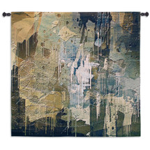 Collision | Woven Tapestry Wall Art Hanging | Mottled Dripped Streaked Dabbed and Imprinted Abstract Artwork | 100% Cotton USA Size 53x53 Wall Tapestry