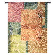 Tribal Beat | Woven Tapestry Wall Art Hanging | Vibrant Contemporary Geometric Art | 100% Cotton USA Size 70x53 Wall Tapestry