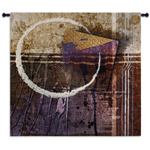 Vibration | Woven Tapestry Wall Art Hanging | Rugged Industrial Abstract Design with Violet Tones | 100% Cotton USA Size 85x53 Wall Tapestry