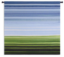 One'S Perspective - Woven Tapestry Wall Art Hanging For Home Living Room & Office Decor - Contemporary Striped Landscape Color Fields - 100% Cotton - USA Wall Tapestry