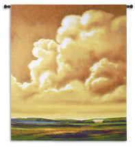 Golden Hour - Woven Tapestry Wall Art Hanging For Home Living Room & Office Decor - Golden Toned Sunset Sunrise Landscape Pastoral Scene - 100% Cotton - USA 65X52 Wall Tapestry