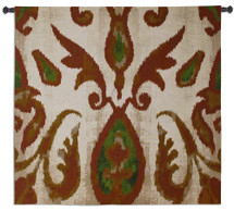 Fine Art Tapestries Ikat Citrus Hand Finished European Style Jacquard Woven Wall Tapestry USA 43X44 Wall Tapestry