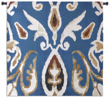Fine Art Tapestries Ikat Oceana Hand Finished European Style Jacquard Woven Wall Tapestry USA 43X44 Wall Tapestry