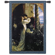 Romeo And Juliet By Sir Francis Dicksee - Woven Tapestry Wall Art Hanging For Home Living Room & Office Decor - Medieval Pre-Raphaelite Romantic Last Kiss - 100% Cotton - USA 53X36 Wall Tapestry