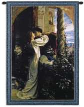 Romeo And Juliet By Sir Francis Dicksee - Woven Tapestry Wall Art Hanging For Home Living Room & Office Decor - Medieval Pre-Raphaelite Romantic Last Kiss - 100% Cotton - USA 38X29 Wall Tapestry