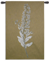 Taupe Nature Study III | Woven Tapestry Wall Art Hanging | Simple Botanical Nature Study | 100% Cotton USA Size 62x40 Wall Tapestry