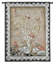 Sea of Life by Julianna Jame | Woven Tapestry Wall Art Hanging | Ocean Wildlife Tree of Life | 100% Cotton USA Size 67x52 Wall Tapestry