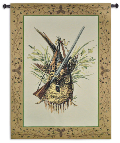 Fine Art Tapestries Hunting Gear Hand Finished European Style Jacquard Woven Wall Tapestry  USA Size 59x44 Wall Tapestry