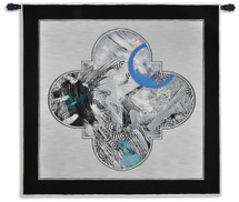 Fine Art Tapestries Cosmic Plan Hand Finished European Style Jacquard Woven Wall Tapestry USA 52X53 Wall Tapestry