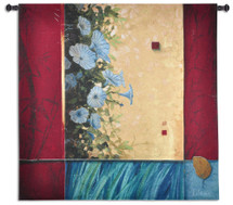 Fine Art Tapestries Spring Blooms Hand Finished European Style Jacquard Woven Wall Tapestry  USA Size 51x52 Wall Tapestry
