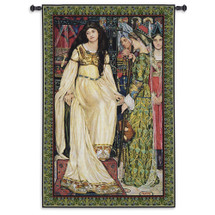 The Keepsake by Kate Elizabeth Bunce   Woven Tapestry Wall Art Hanging   Depiction of 'The Staff and Scrip' by Dante Gabriel Rossetti   100% Cotton USA Size 82x53 Wall Tapestry
