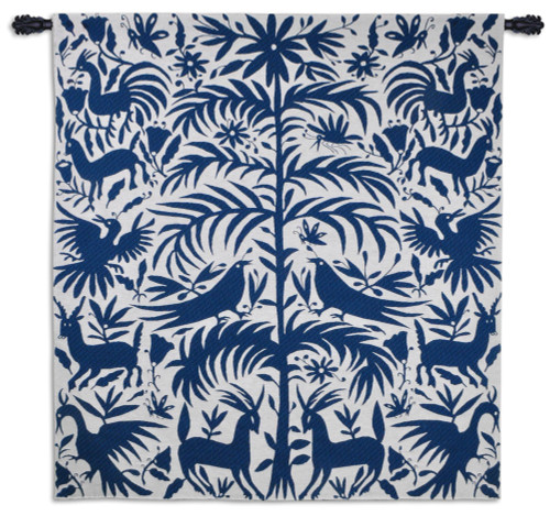 Otomi Royal - Wonderful Traditional Art From An Indigenous People Of Mexico - Woven Tapestry Wall Art Hanging For Home Living Room & Office Decor - 100% Cotton - USA 58X53 Wall Tapestry