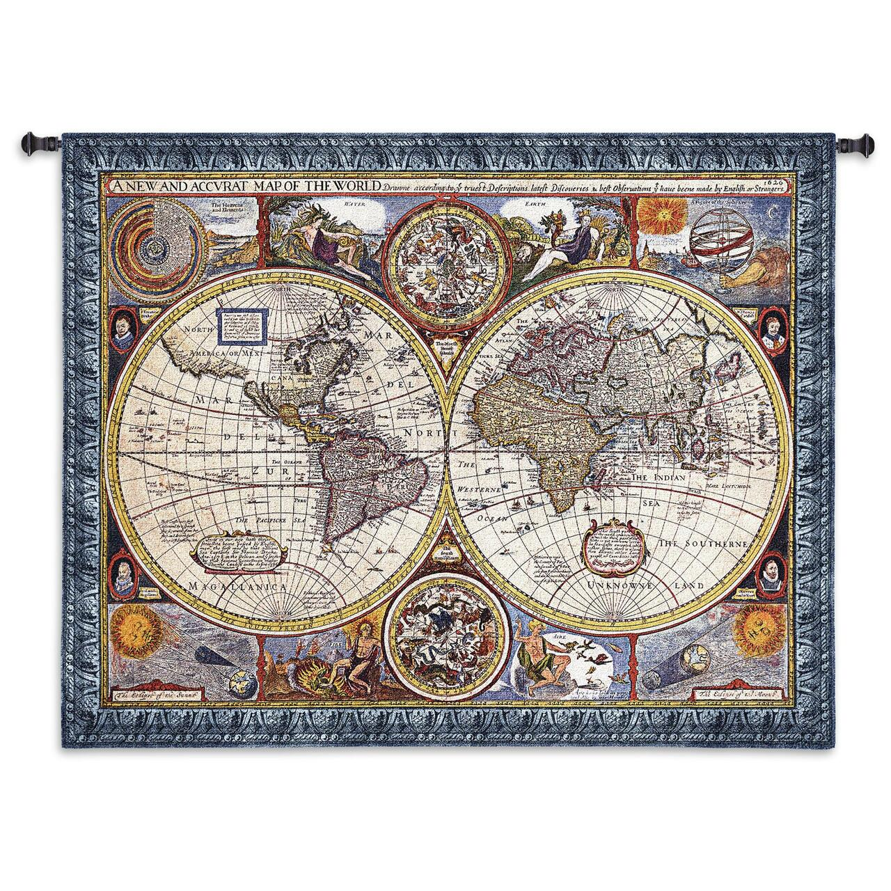 New and Accurate World Map | Woven Tapestry Wall Art Hanging | Vintage Tapestry World Map on world map search engine, world map family, world map art, world map red, world map pillow, world map photography, world map poster, world map engraving, world map bedding, world map painting, world map leather, world map mosaic, world map lithograph, world map furniture, world map in spanish, world map legend, world map cross stitch pattern, world map collage, world map conspiracy, world map america,