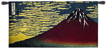 Red Fuji by Katsushika Hokusai | Woven Tapestry Wall Art Hanging | 'Thirty-Six Views Of Mount Fuji' Classic Japanese Woodblock Print | 100% Cotton USA Size 50x26 Wall Tapestry