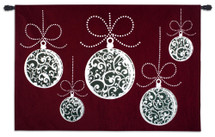 Ornamentation   Woven Tapestry Wall Art Hanging   Christmas Ornament Holiday Decoration   100% Cotton USA Size 80x53 Wall Tapestry