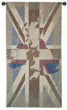 Union Jack | Woven Tapestry Wall Art Hanging | Contemporary Vertical British Flag Design | 100% Cotton USA Size 61x31 Wall Tapestry